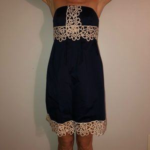 Lily Pulitzer Dress Navy and Gold